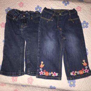 Sonoma & Gymboree girls jeans size 18-24 months